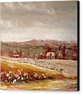 Eastern Townships Quebec Painting Canvas Print by Carole Spandau