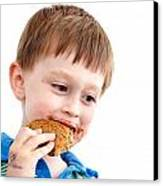 Eating Biscuit Canvas Print