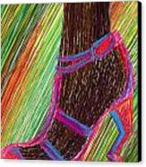 Ebony In High Heels Canvas Print by Kenal Louis