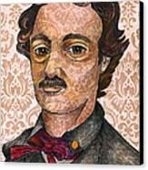 Edgar Allan Poe After The Thompson Daguerreotype Canvas Print by Nancy Mitchell