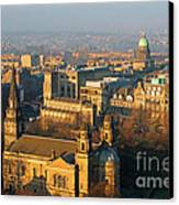 Edinburgh On A Winter's Day Canvas Print by Christine Till