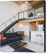 Efficiency Apartment Interior Canvas Print by Ben Sandall
