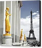 Eiffel Tower From Trocadero Canvas Print by Elena Elisseeva