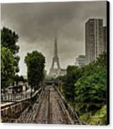 Eiffel Tower In Clouds Canvas Print