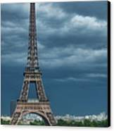 Eiffel Tower On A Stromy Weather Canvas Print