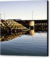 Eisenhower Pier Canvas Print by Chris Cardwell