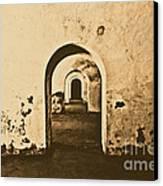 El Morro Fort Barracks Arched Doorways San Juan Puerto Rico Prints Rustic Canvas Print