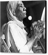Elderly African American Woman Canvas Print