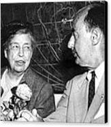 Eleanor Roosevelt Supported Adlai Canvas Print by Everett