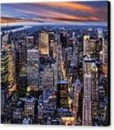 Electric Nyc Canvas Print by Kelley King