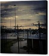 #electricalsky Canvas Print