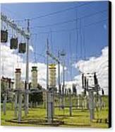 Electricity For A City Canvas Print by Aleksandr Volkov