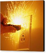 Electrocution Hazard Canvas Print