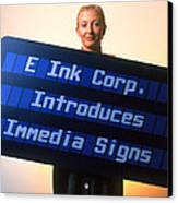 Electronic Ink Sign Canvas Print by Volker Steger