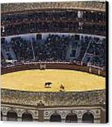 Elevated View Of Bullring Canvas Print by Axiom Photographic