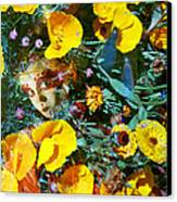 Elfin Child Of Poppies Canvas Print by Cyoakha Grace