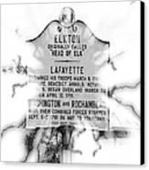 Elkton Head Of Elk  Canvas Print by Lorraine Louwerse