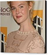 Elle Fanning At Arrivals For 15th Canvas Print by Everett