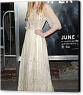 Elle Fanning Wearing A Vintage Dress Canvas Print