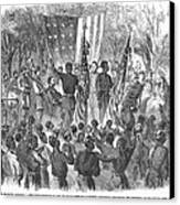 Emancipation, 1863 Canvas Print by Granger