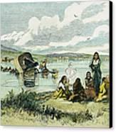 Emigrants In Nebraska, 1859 Canvas Print by Granger