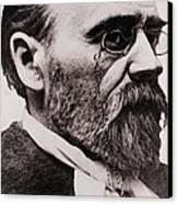 Emile Zola 1840-1902, French Novelist Canvas Print by Everett