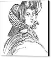 Emily Bront� (1818-1848) Canvas Print by Granger