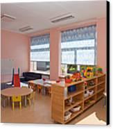 Empty Estonian Elementary Grade School Canvas Print