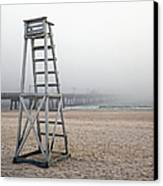 Empty Lifeguard Chair Canvas Print by Skip Nall