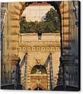 Empty Stone Bridge Canvas Print