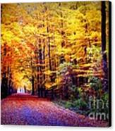 Enchanted Fall Forest Canvas Print by Carol Groenen