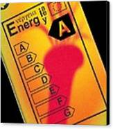 Energy Efficiency Rating Label Canvas Print by Sheila Terry