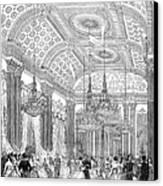 England - Royal Ball 1848 Canvas Print