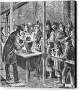 England: Soup Kitchen, 1862 Canvas Print
