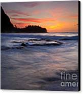 Engulfed By The Sea Canvas Print by Mike  Dawson