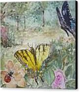 Enter The Garden Canvas Print by Dorothy Herron