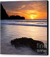 Enveloped By The Tides Canvas Print by Mike  Dawson