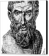 Epicurus (343?-270 B.c.) Canvas Print by Granger