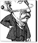 Ernest Rutherford, Caricature Canvas Print by Gary Brown