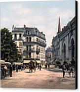 Etablissement Thermal - Aix France Canvas Print by International  Images