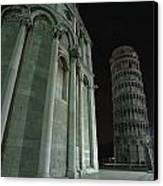 Ethereal Moonlight Scene Of Duomo Santa Canvas Print by Carson Ganci