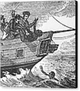 European Sailors Throwing African Canvas Print by Everett