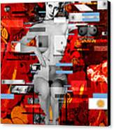 Eva Peron Nude En Rouge Canvas Print