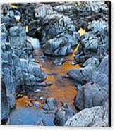 Evening Light On The Black River At Johnsons Shut Ins State Park IIi Canvas Print by Greg Matchick