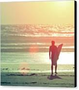 Evening Surfer Canvas Print