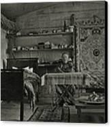 Explorer Joseph Rock Sitting Canvas Print
