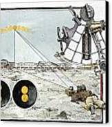Explorer Robert E. Peary Uses The Sun Canvas Print by Richard Schlecht