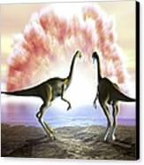Extinction Of The Dinosaurs, Artwork Canvas Print by Jose Antonio PeÑas