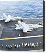 Fa-18 Aircraft Prepare To Take Canvas Print