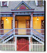 Facade Of Plantation Slave Quarters Canvas Print by Jeremy Woodhouse